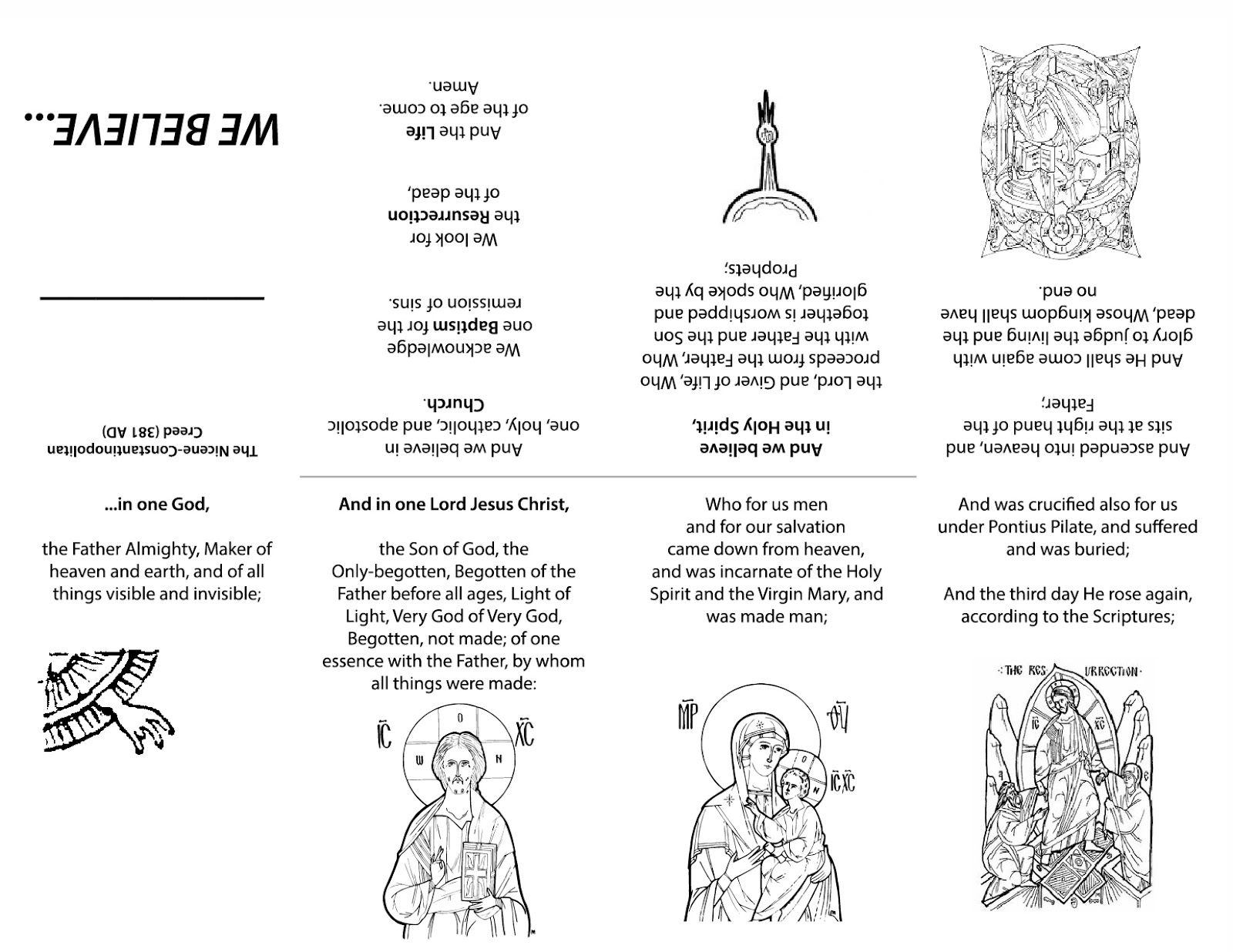 Orthodox Educational Resources With Images Creed Nicene Creed