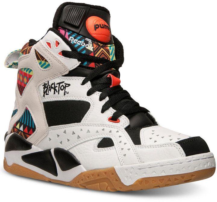 Reebok Men's Blacktop Battleground Basketball Sneakers from
