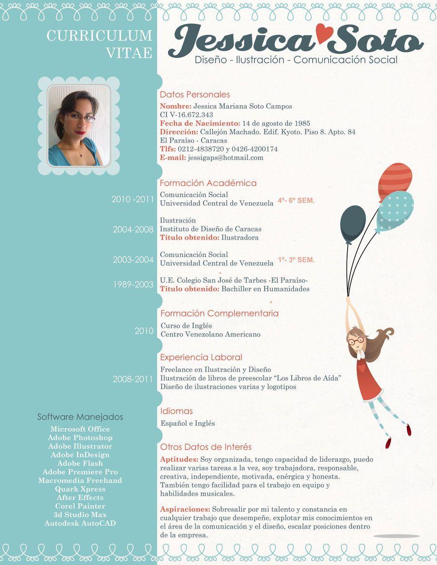 Qué te parece el CV de Jessyca? | Currículum vitae - CV | Pinterest ...