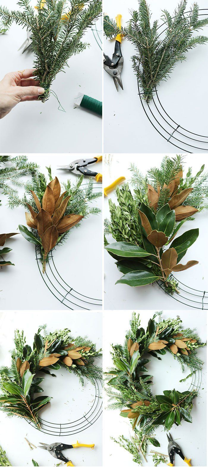 How to's : DIY Fresh Magnolia Mixed Branch Wreath || Darling Darleen