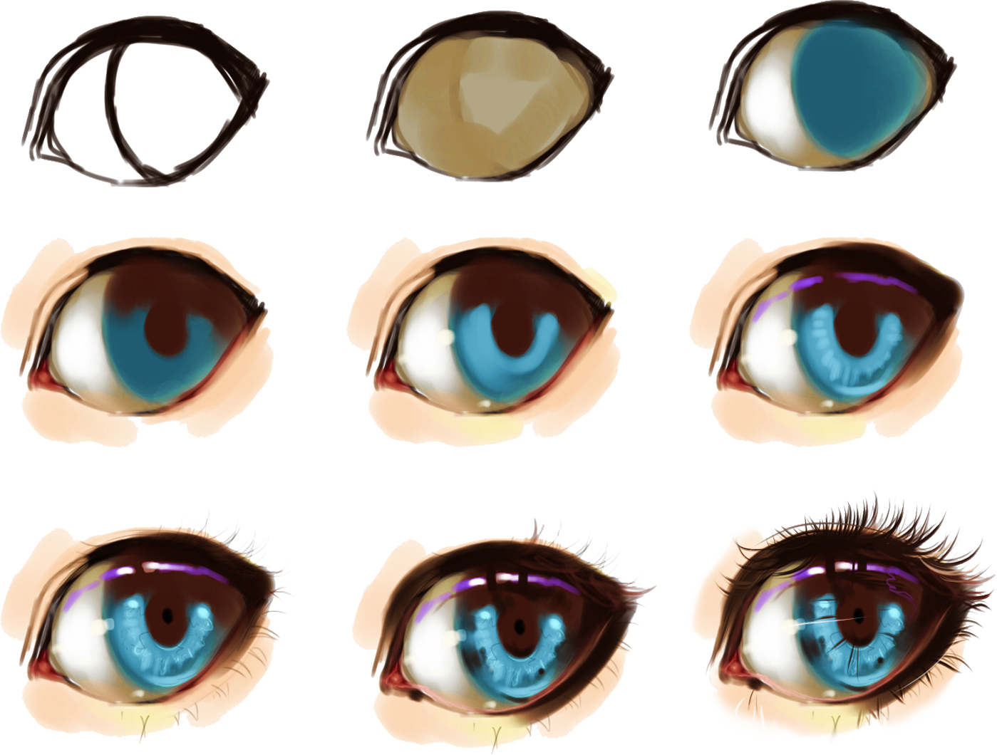 eye step by step by on DeviantArt