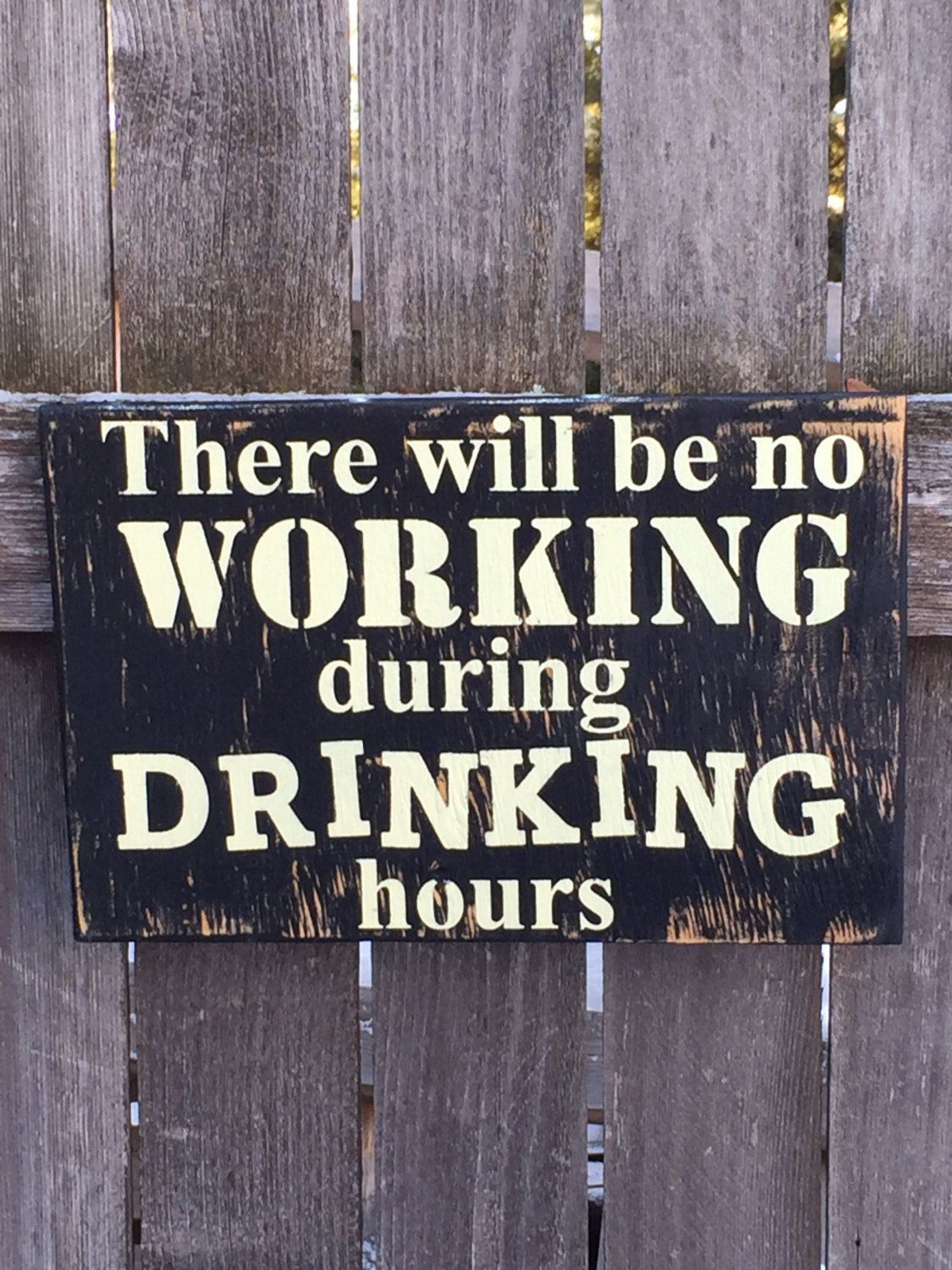 Man Cave Hours : Bar signs alcohol sign man cave there will be no