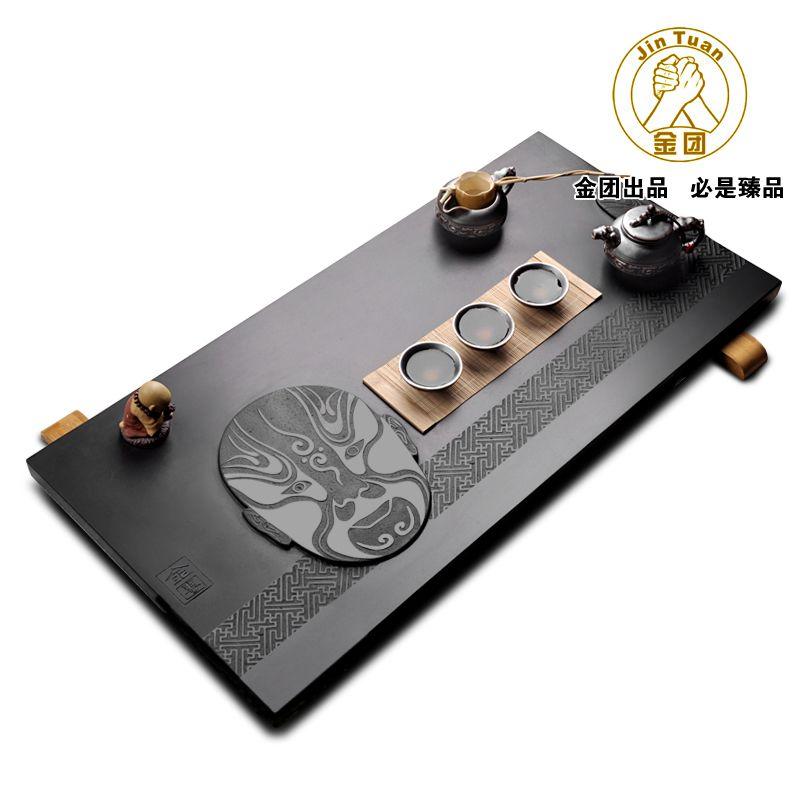 Black stone tea tray tea set stone tea tray kung fu tea set mask teaberries tea sea 3249 $404.16