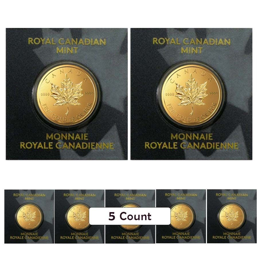 Lot Of 5 2016 1 Gram Canadian Gold Maples 9999 Fine From Individual Assays In Coins Paper Money Bullion Gold Gold Bullion Coins Gold Bullion Mint Bar