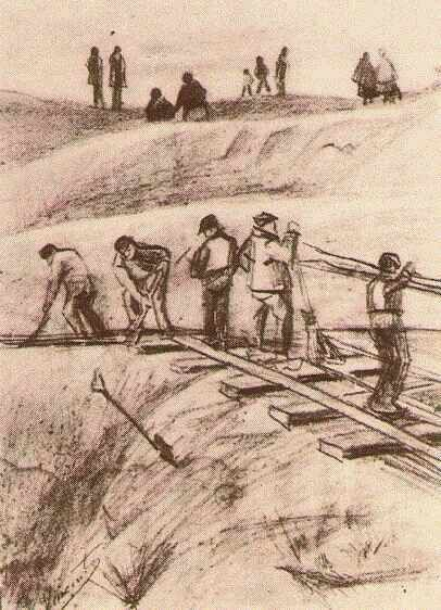 Sand Diggers. 1882. Vincent van Gogh: The Drawings