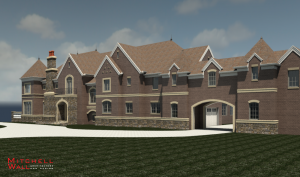 Traditional home under construction.  St. Louis interior designers: http://bit.ly/1mk3bly