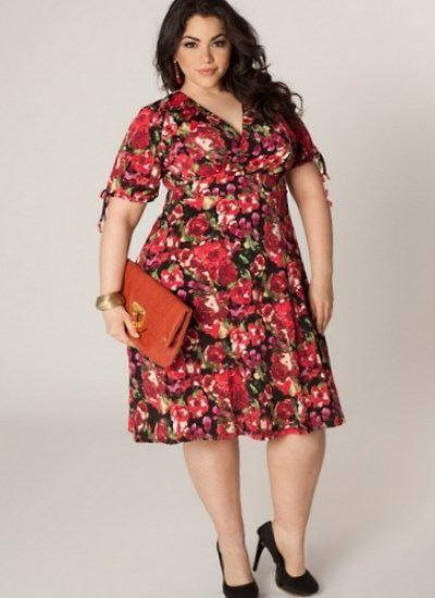 a19f2dde790 Платье-халат большого размера для полных (28 фото)