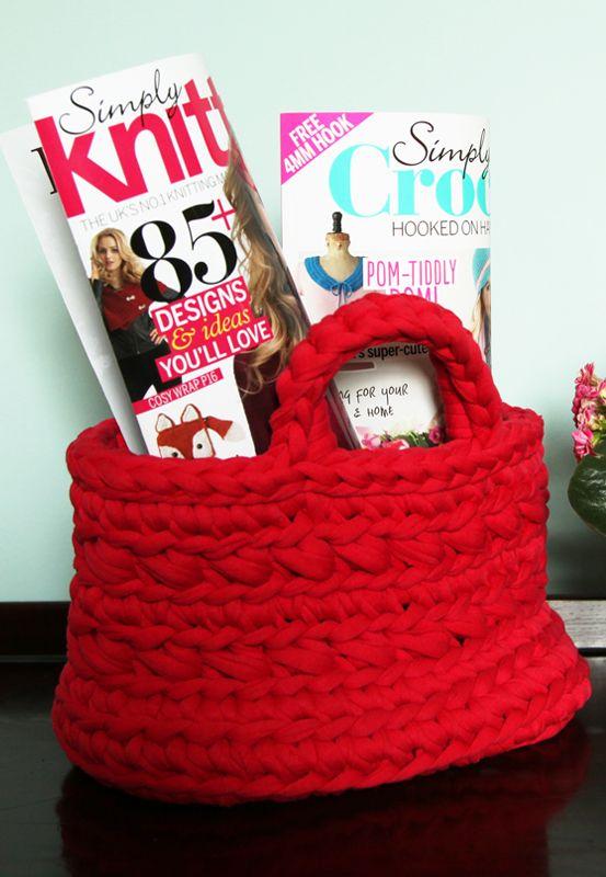Zpagetti Yarn Crochet Basket Pattern Link Paper Cotton Love And