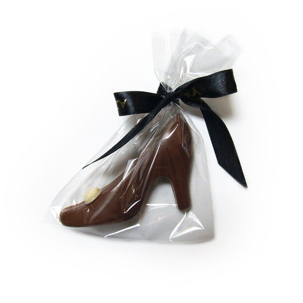 Belgian Milk Chocolate Shoe Favour Presented In A Bag