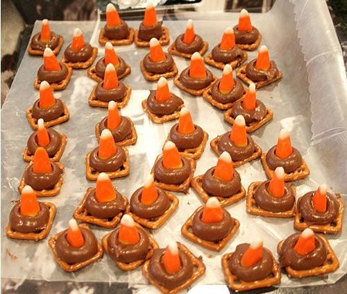 easy halloween treat no trick looks like traffic cones - Easy Halloween Baking
