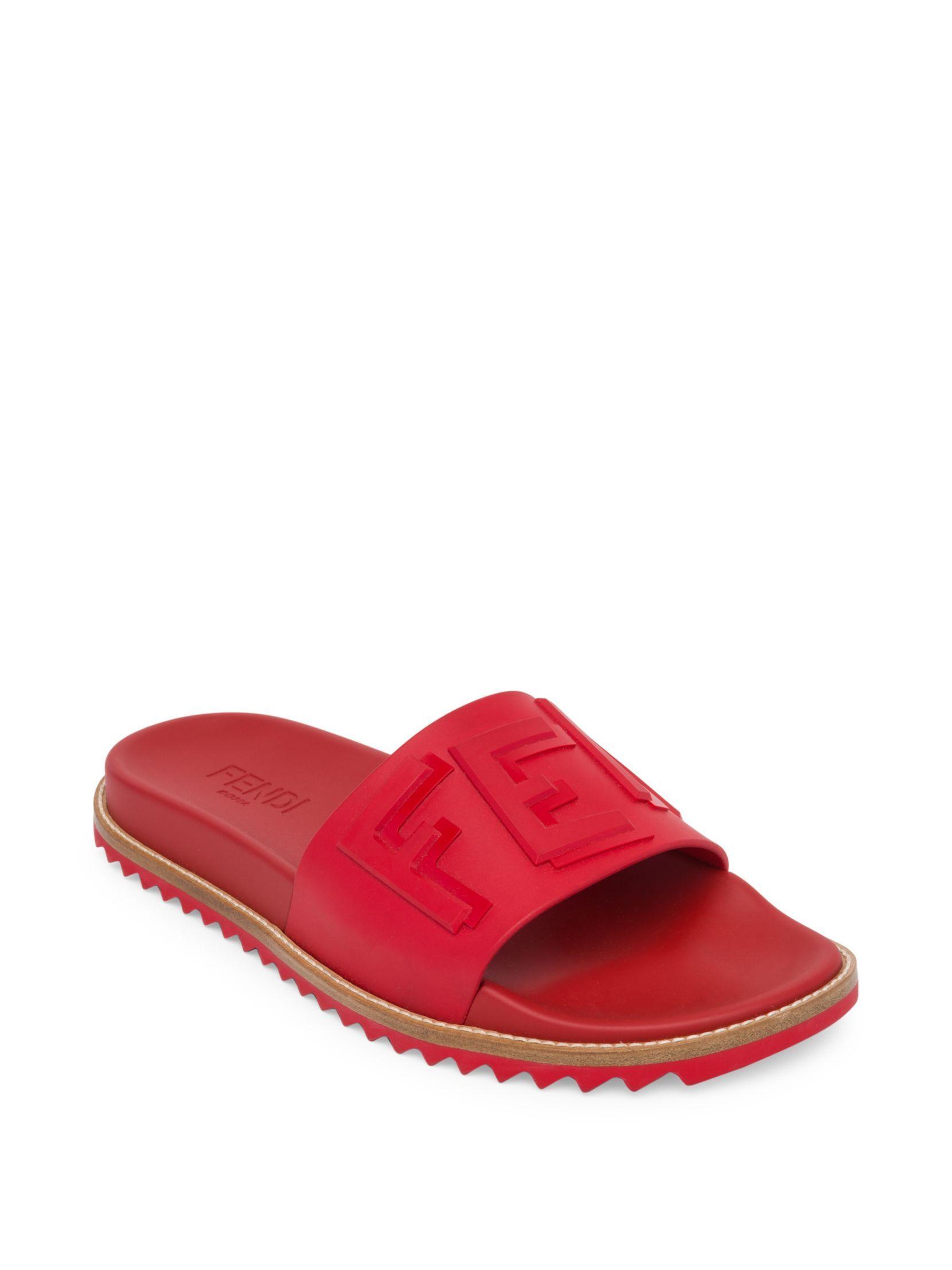 Fendi Red 'Fendi Vocabulary' Sandals AewmcDZnDC