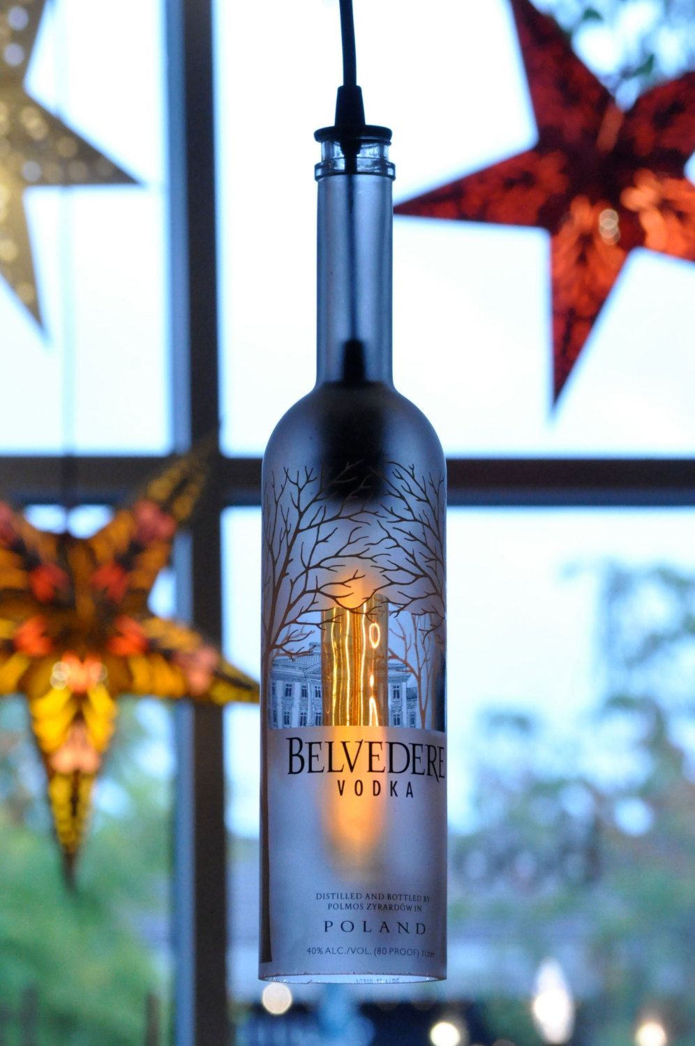 Items similar to Recycled Bottle Belvedere Pendant