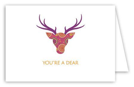 Deer Head Thank You Card