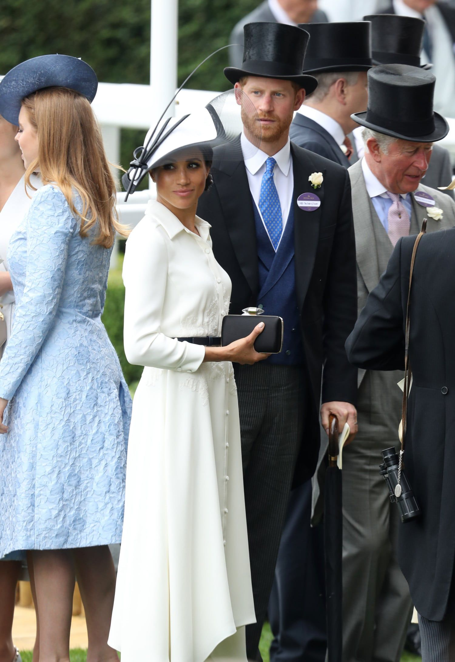 599f30a5dc2 Meghan Markle Marked Her One-Month Wedding Anniversary With Another White Givenchy  Dress