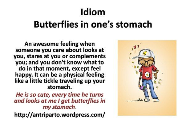 idioms butterflies in my stomach