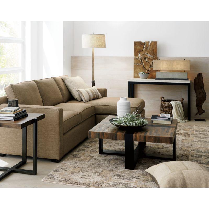 12 Lovely White Living Room Furniture Ideas: Davis 3-Seat Lounger