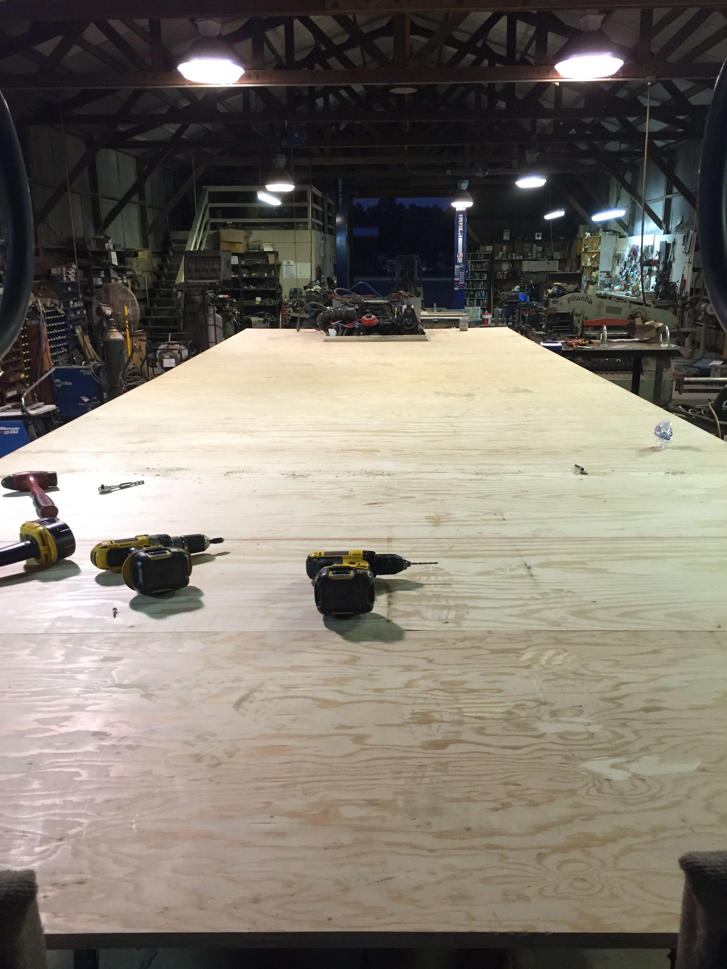 4 Decked In Marine Grade 1 2 Plywood Pontoon Pontoon Boat Boat