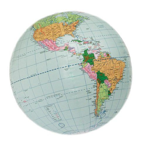 Hubbard Scientific 617 24 Inch World Globe Inflatable! Geography - time clock sheet template