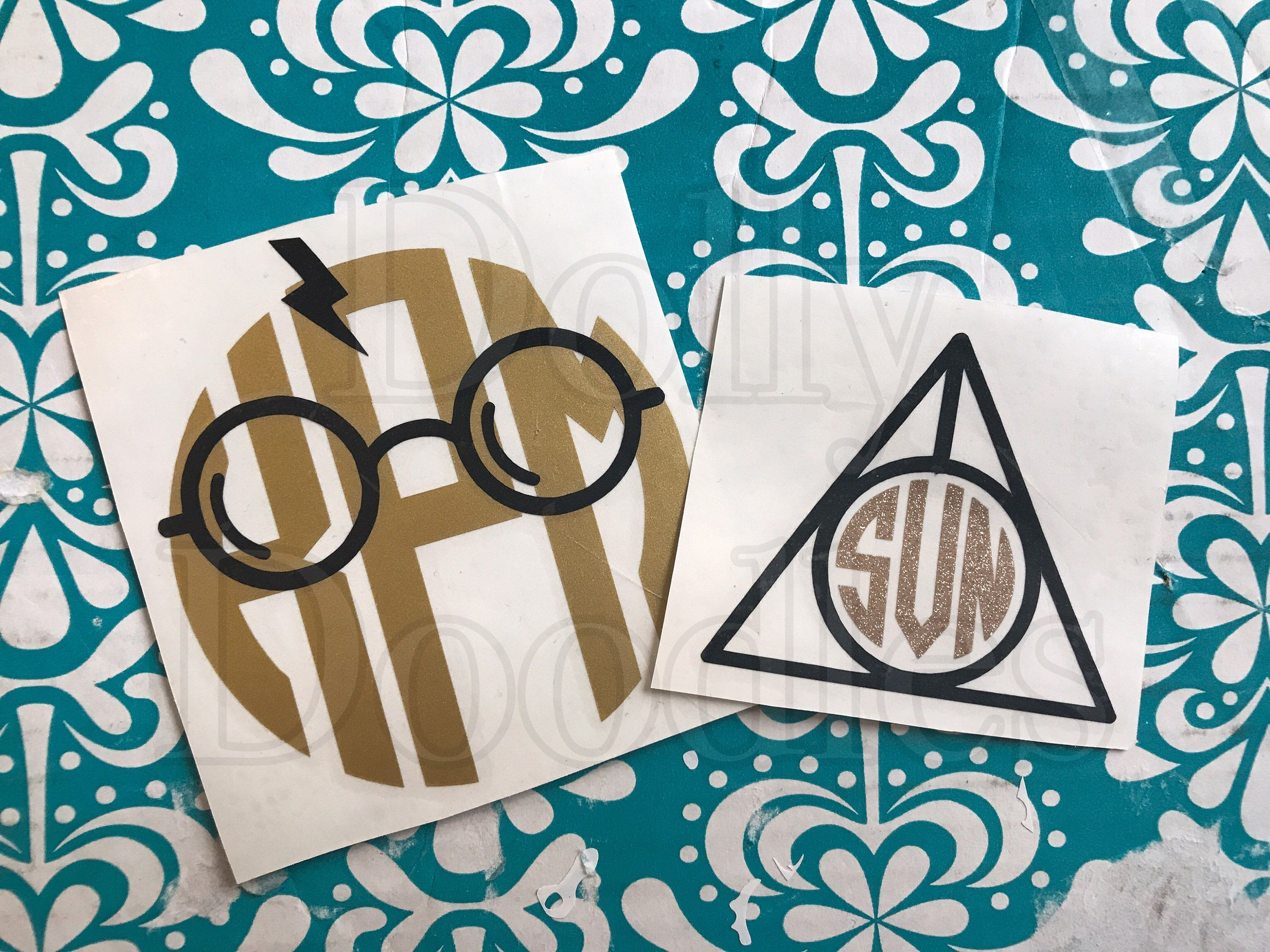 Harry Potter Monogram Decal 4 Different Frame Options