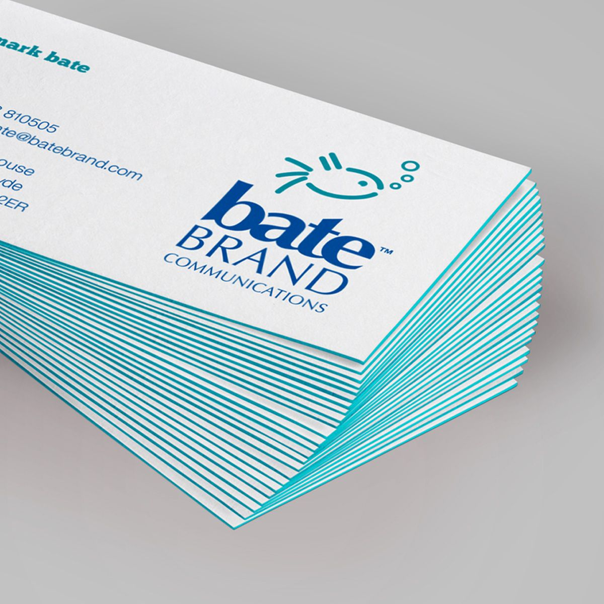 Our new business cards featuring triple layered colour sandwich ...
