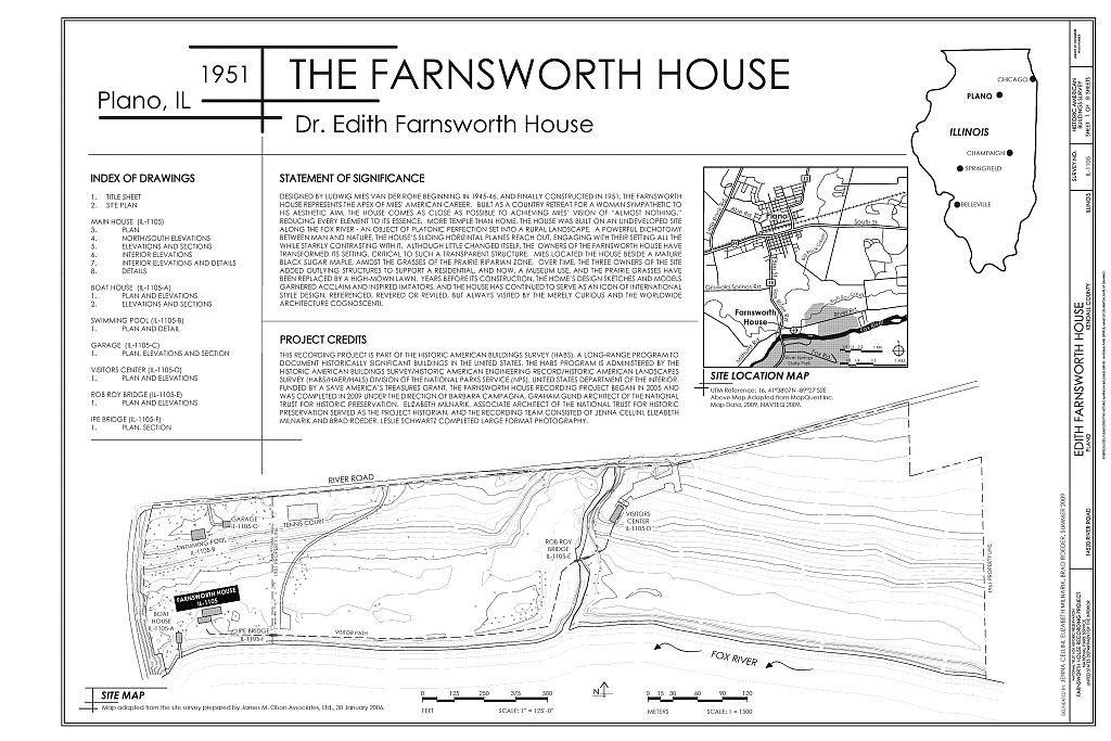 Farnsworth House Site Plan Google Search