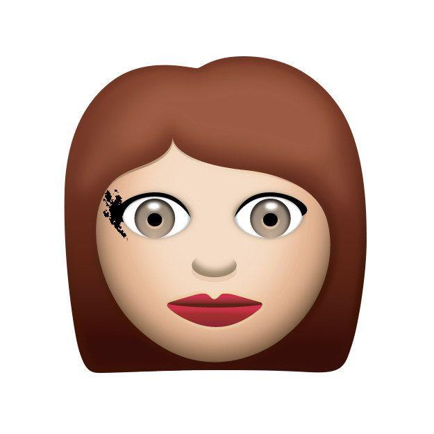 The I Forgot I Was Wearing Eyeliner Emoji Emoji Emoji Stickers Girl Emoji