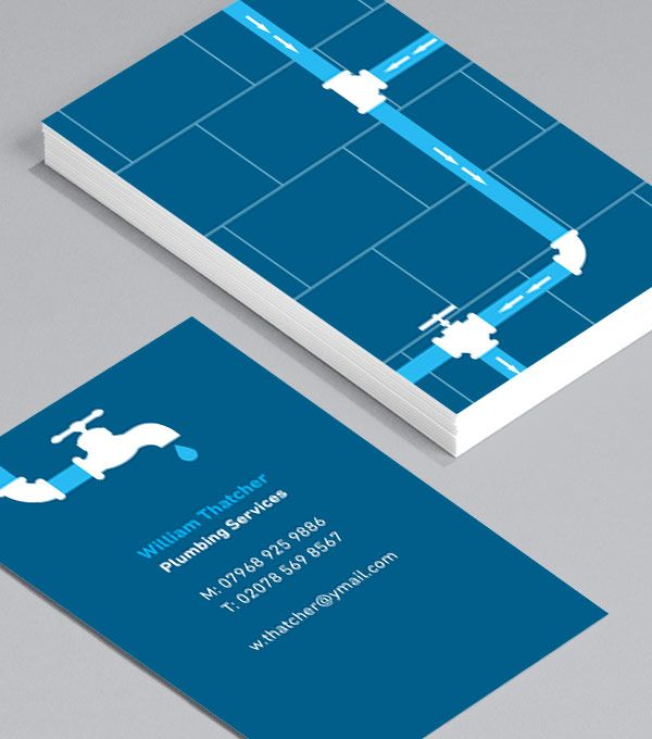 Browse Business Card Design Templates Logo Plombier Carte De Visite Cartes Modles