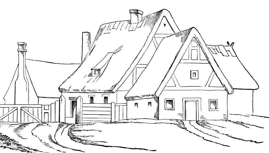 Desenhos para pintar Casas 6 | Desenhos para Colorir | Pinterest ...