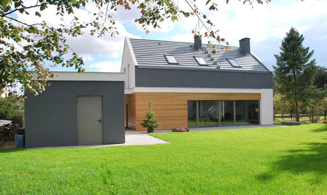 Moderne häuser satteldach holz  Moderne Häuser von Prodom Architektura i Konstrukcja | Modern ...