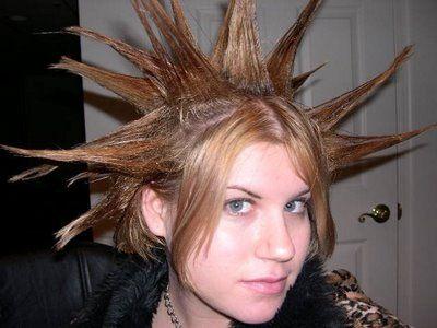 Funny Hairstyles On Pinterest Weird Hairstyles Christmas Hair Styles Punk Hair Short Hair Styles