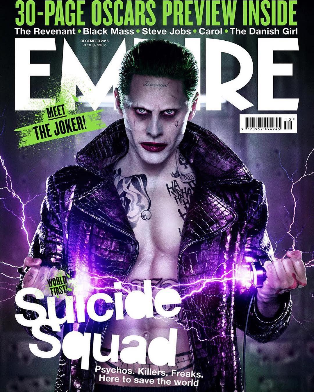 """""""Regram from @jaredleto: I'm not gonna kill you, I'm just gonna... #SuicideSquad #Joker @EmpireMagazine"""""""