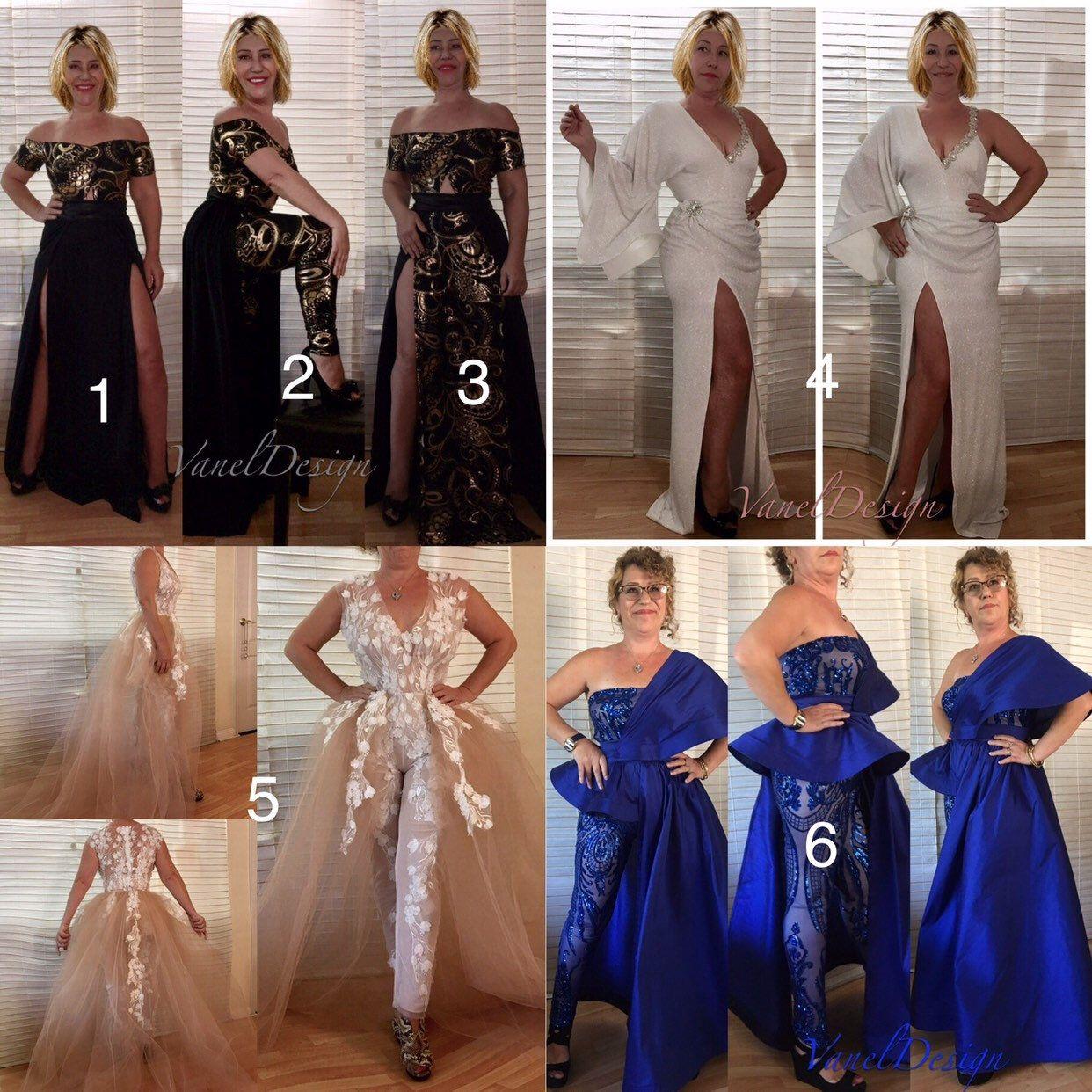 Jumpsuit wedding dress bridal bodysuit detachable skirt