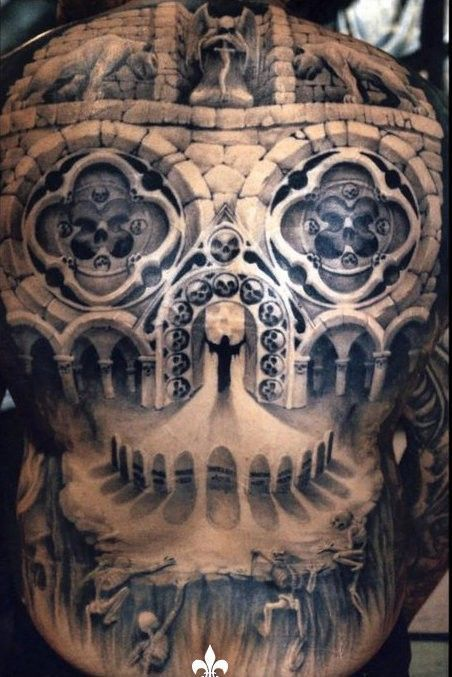 Gothic Architecture Skull Tattoos And Skulls On Pinterest