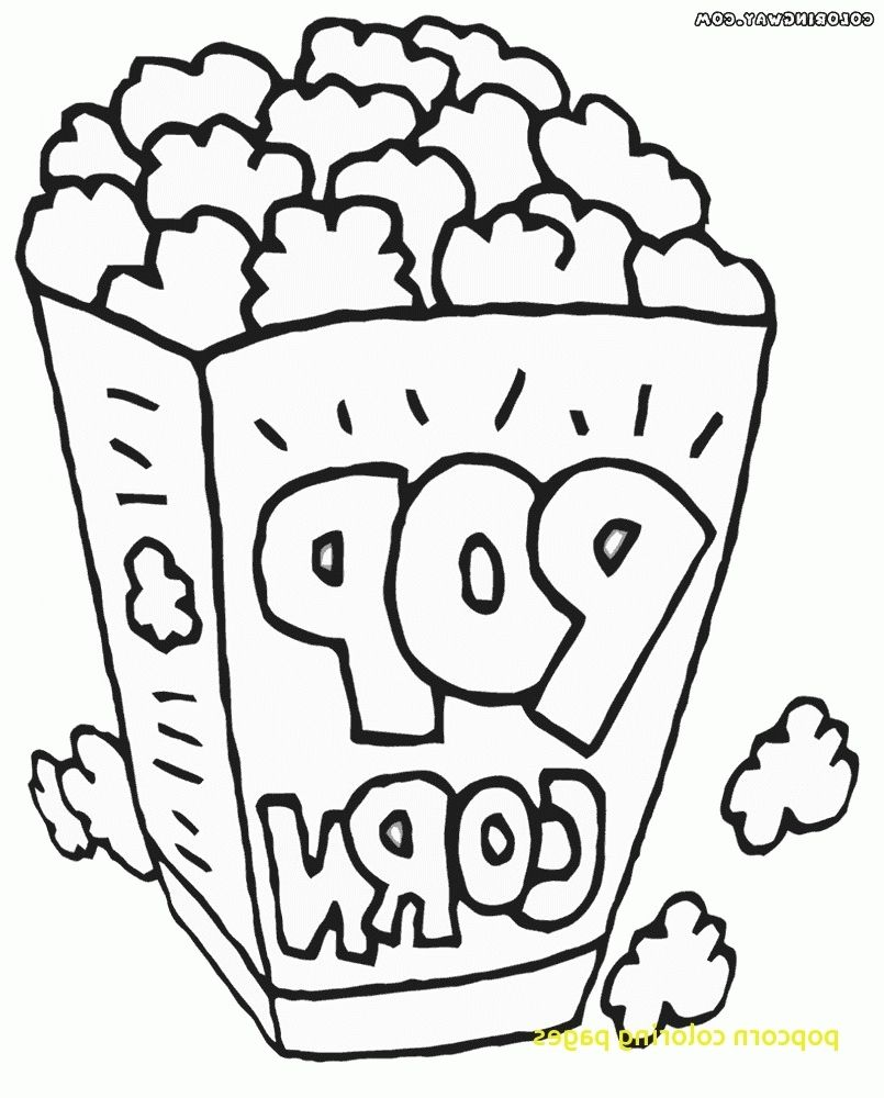 Popcorn Coloring Page Coloring Pages Colored Popcorn Fruit Coloring Pages