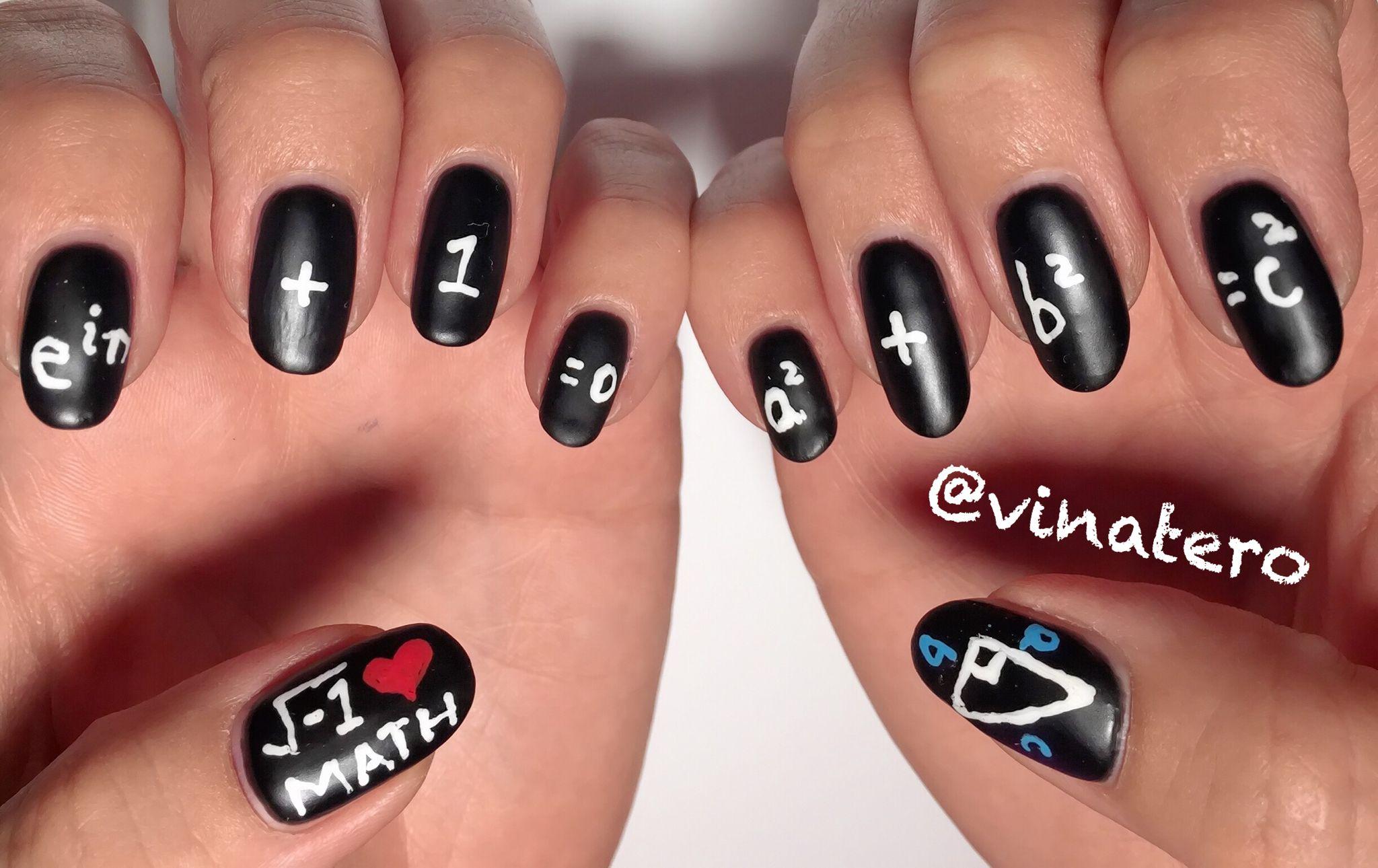 My Math Nails Nailart Vinatero Nail Art Pinterest