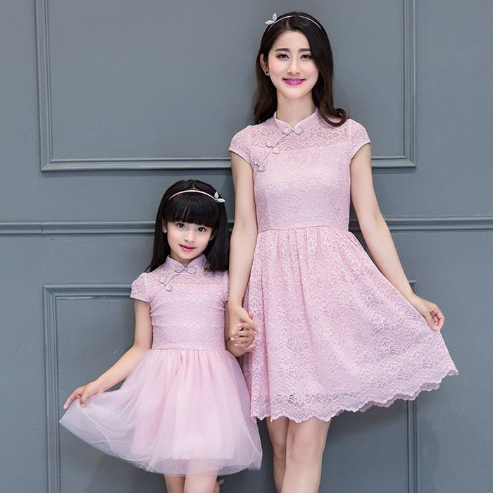 cbf162fec5819 mother daughter dresses girl pink dress traditional Chinese clothing ...