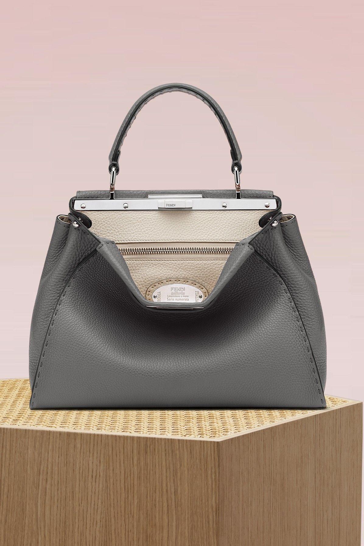 51c1aab138fd FENDI SELLERIA PEEKABOO HANDBAG.  fendi  bags  shoulder bags  hand bags   denim  leather