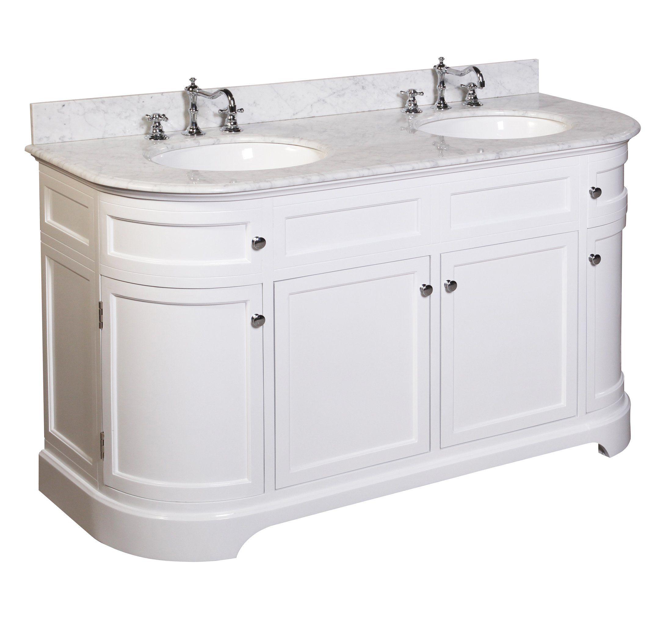 Best Montage 60 Inch Double Bathroom Vanity Carrara White 400 x 300