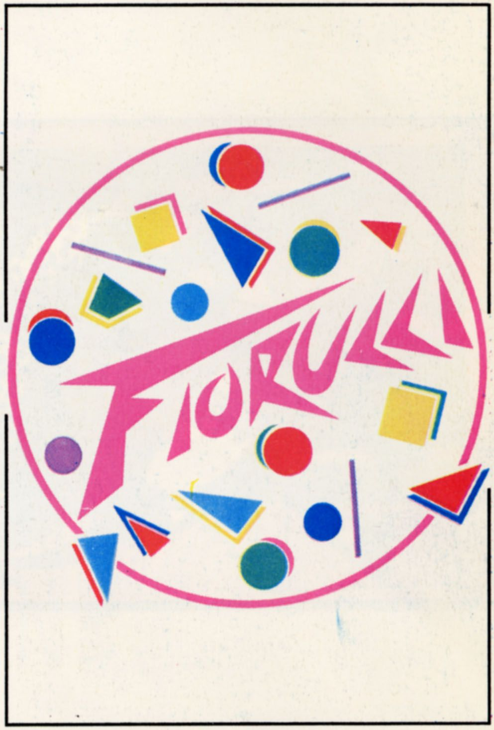 "Sticker ""Authorized point of Fiorucci Sale"""