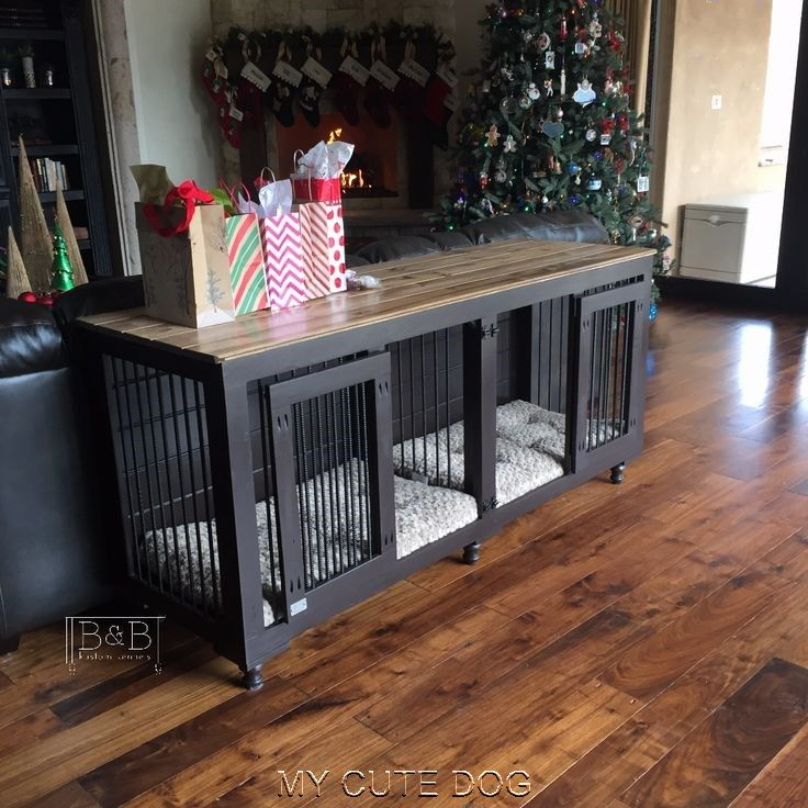Indoor Dog Kennel Furniture Ideas Dog crate furniture