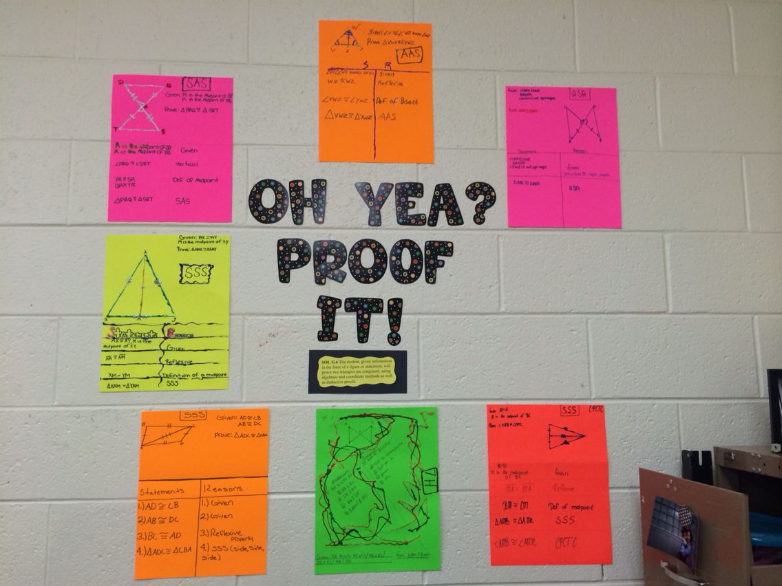 Congruent Triangle Proof Poster Fun Activity For Proofs
