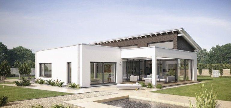Witte bungalow deel met verdieping huizen exterieur for Architekten bungalow modern