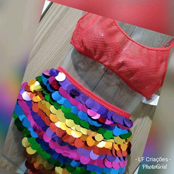 Hot Pant Lantejoulas Em 2020 Fantasias Criativas Carnaval