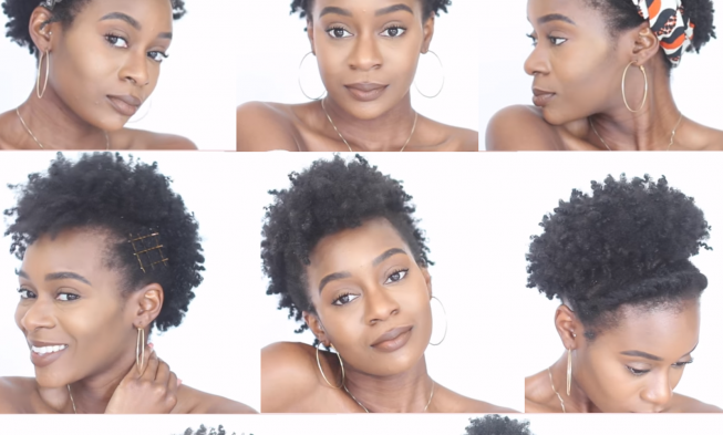 8 Easy Protective Hairstyles For Short Natural 4c Hair That Will Not Damage Your Edges African American Hairstyle Videos Aahv Natural Hair Styles Hair Styles 4c Natural Hairstyles Short