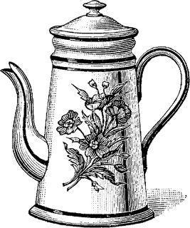 Cafetera Teteras Dibujo Etiquetas Vintage Carteles Antiguos