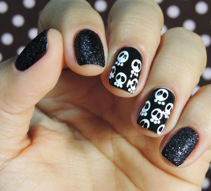 Unhas pro Halloween de Caveirinhas | blz e arte | Pinterest | Skull ...