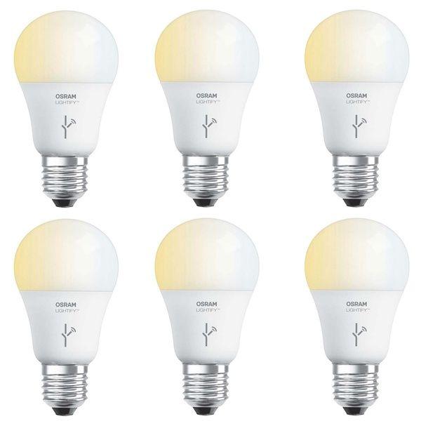Sylvania Osram Lightify 60 Watt A19 Tunable Smart Home Led Light Bulb 6 Pack Smart Home Bulb Light Bulb
