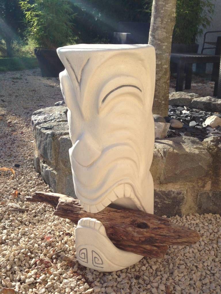 Tiki en pierre reconstituée (de Tikisquare)