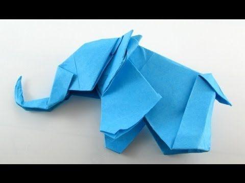 Origami Elephant Instructions Youtube Crafty Pinterest