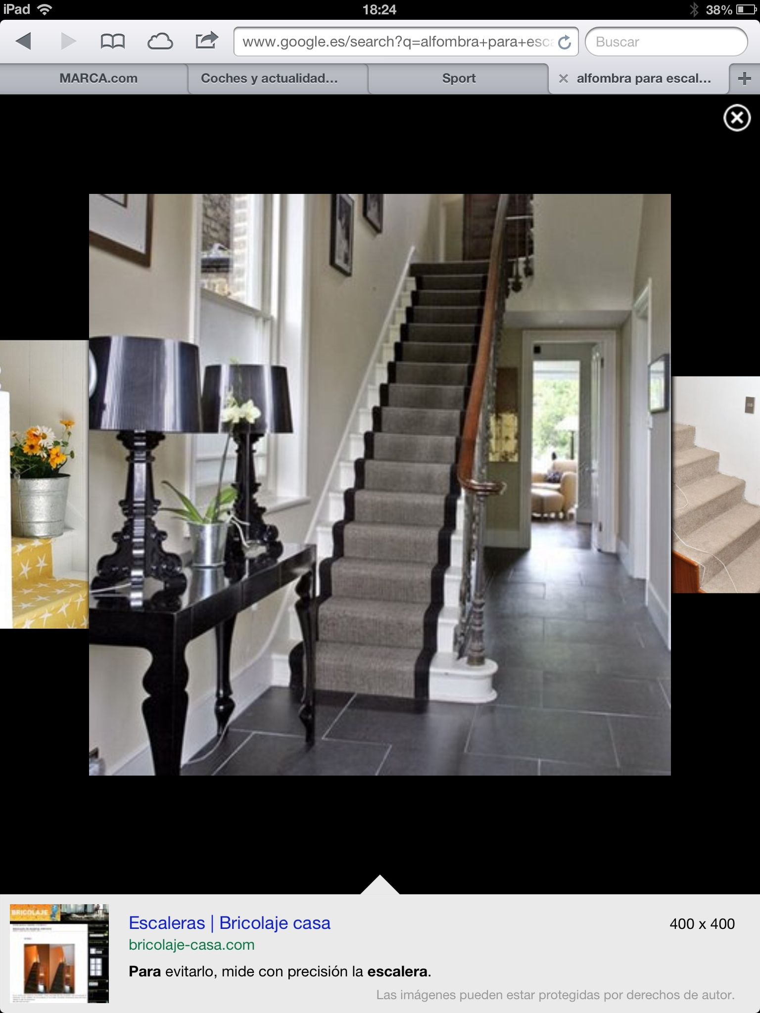 entrances/foyers - console slate stair runner black lamps black console  table Kartell Bourgie Table Lamp love the console table glossy black